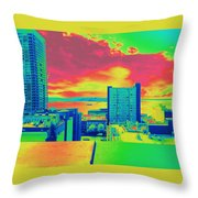City Legos Throw Pillow