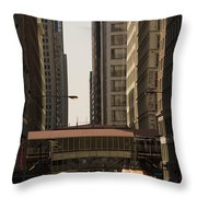 City Life Throw Pillow