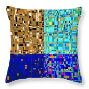 City Life Series No. 5 Throw Pillow