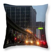 City Life Swarms Throw Pillow
