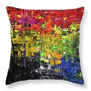 City Lights Throw Pillow by Jacqueline Athmann
