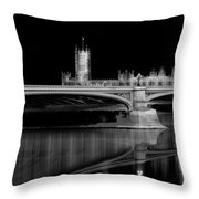 City Lights London Throw Pillow