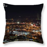 City Lights Over Bham, Al Throw Pillow