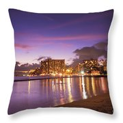 City Lights Reflections Throw Pillow