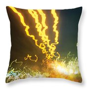 City Lights Wild Throw Pillow