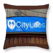City Loos Throw Pillow