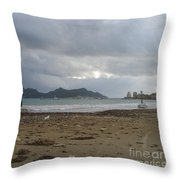 City Lost To The Sea Throw Pillow