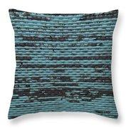 City Metal Grid Throw Pillow