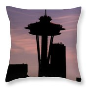 City Needle Throw Pillow
