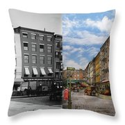 City - New York Ny - Fraunce's Tavern 1890 - Side By Side Throw Pillow