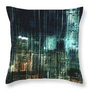 City Night Lights Throw Pillow
