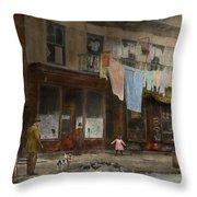 City - Ny - Elegant Apartments - 1912 Throw Pillow
