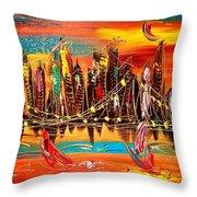City Ny Throw Pillow