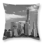 City - Ny - The Shades Of A City Throw Pillow