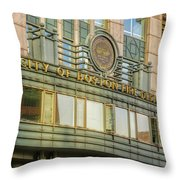 City Of Boston Fire Department Throw Pillow