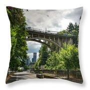 City Of Bridges Throw Pillow