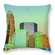 City Of Colors Throw Pillow by Karol Livote