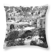 City Of David Bethlehem Throw Pillow by Munir Alawi