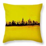 City Of Gold Throw Pillow