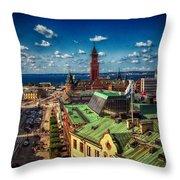 City Of Helsingborg Throw Pillow