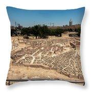 City Of King David Throw Pillow