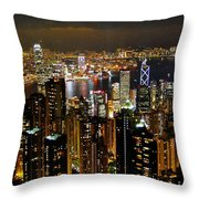 City Of Lights Throw Pillow