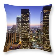 City Of Lights Throw Pillow by Kelley King