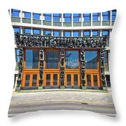 City Of Ljubljana Parliament Building View Throw Pillow