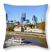 City Of London 12 Throw Pillow