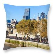 City Of London 14 Throw Pillow