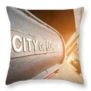 City Of London Throw Pillow