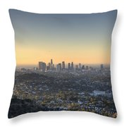 City Of Los Angeles At Dawn Throw Pillow
