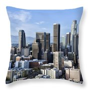 City Of Los Angeles Throw Pillow by Kelley King