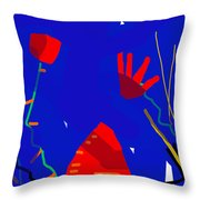 City Of Maisons Throw Pillow