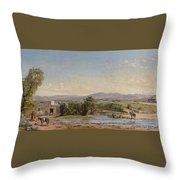 City Of Mexico From The Hacienda De Los Morales Throw Pillow