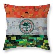 City Of Miami Flag Throw Pillow