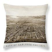 City Of San Jose County Of Santa Clara 1875 Throw Pillow