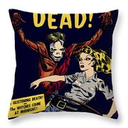 City Of The Living Dead Comic Book Poster Throw Pillow