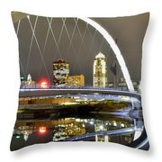 City Of The Midwest Throw Pillow