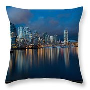 City Of Vancouver British Columbia Canada Throw Pillow