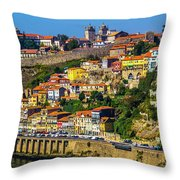 City On A Hillside Throw Pillow