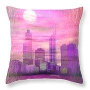 City On Night View Throw Pillow