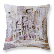 City On The River  Throw Pillow