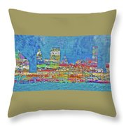 City On The Water Throw Pillow