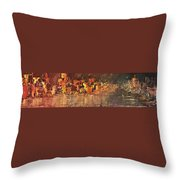 City On Water Throw Pillow