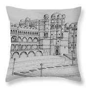 City Palace Of Udaipur  Throw Pillow