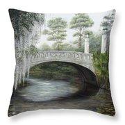 City Park Bridge Throw Pillow
