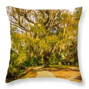 City Park New Orleans - Paint Throw Pillow
