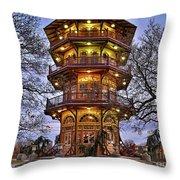 City Park Pagoda Throw Pillow