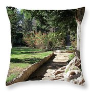 City Park Rhodes Greece Throw Pillow